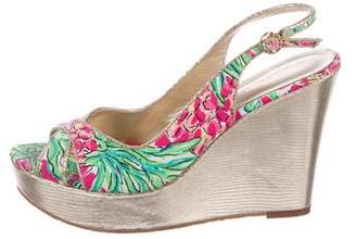 Lilly Pulitzer Slingback Espadrille Wedges