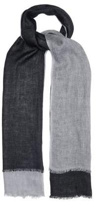 From The Road - Vari Two Tone Linen Scarf - Mens - Blue