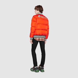 Gucci Nylon bomber jacket with NY YankeesTM patch