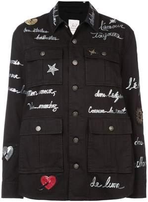 Cinq à Sept multi-pocket printed jacket