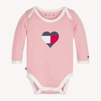 Tommy Hilfiger Baby Long-Sleeve Heart Bodysuit