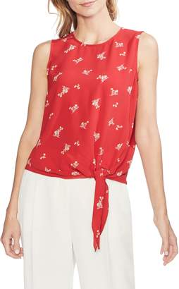 Vince Camuto Desert Bouquet Tie Front Sleeveless Top