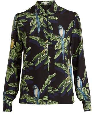 Stella McCartney Parrot Print Silk Shirt - Womens - Black Print