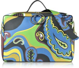 Emilio Pucci Pervinca Optical Print Oversized Top-Handle Bag