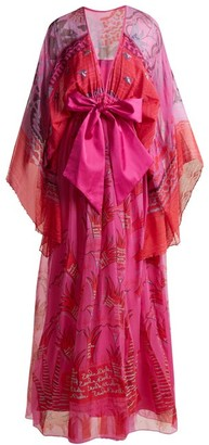 Zandra Rhodes Summer Collection The 1973 Field Of Lilies Gown - Womens - Pink