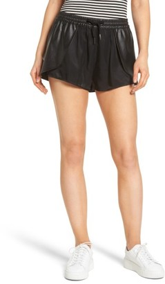 Women's Blanknyc Hugs & Kisses Faux Leather Trim Skort $88 thestylecure.com
