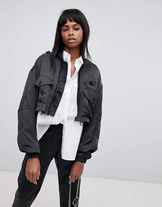 G Star G-Star Cropped High Shine Jacket