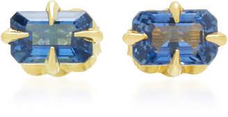 Ila Amrin 14K Gold Blue Sapphire Stud Earrings