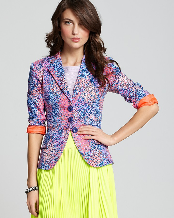 Nanette Lepore Blazer - Printed Canvas First Dance