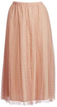 RED Valentino Point D'Sprit Maxi Skirt