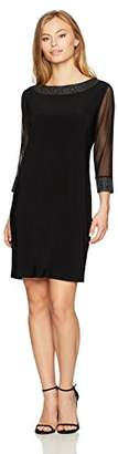 Tiana B Women's Petite Embelished Shift Dress