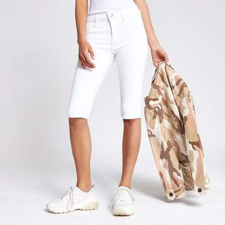 River Island Womens White Amelie super skinny cycling shorts