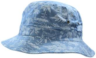 6a6f37596e0094 Black Brown 1826 Hawaiian Print Cotton Bucket Hat