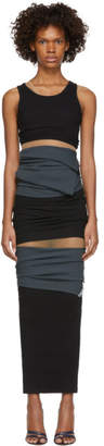 Y/Project Black Multilayer Dress