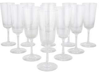 Baccarat Set of 11 Crystal Riberac Port Wine Glasses