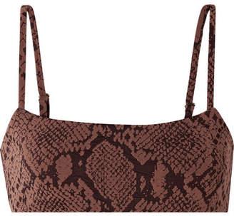 Mara Hoffman Sia Jacquard-knit Bikini Top - Brown