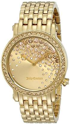 Juicy Couture Women's 1901280 La Luxe Analog Display Quartz Gold Watch $350 thestylecure.com