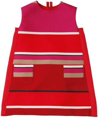 Lanvin Petite Striped Duchesse A Line Dress