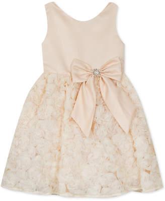 Rare Editions Little Girls Satin Soutache Dress