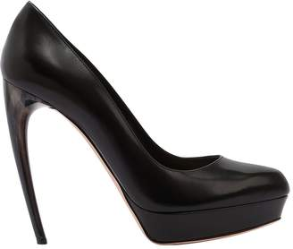 Alexander McQueen 125mm Leather Pumps W/ Hand-Painted Heel
