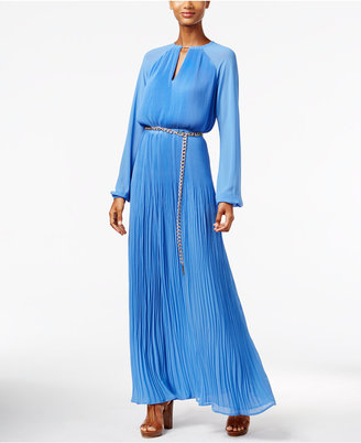 MICHAEL Michael Kors Pleated Belted Maxi Dress $255 thestylecure.com