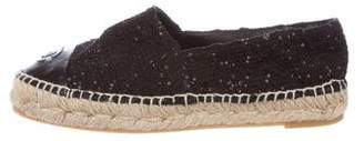 Chanel Embellished Cap-Toe Espadrille Flats