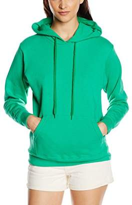 Fruit of the Loom Women's Pull-Over Classic Hooded Sweat, Heather Grey, (Manufacturer Size:)