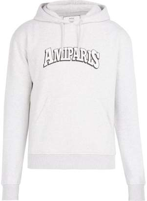 Ami Ginevra Amiparis Hooded Sweatshirt - Mens - Grey