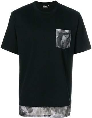 White Mountaineering mesh trim T-shirt
