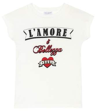 Dolce & Gabbana L'Amore cotton T-shirt