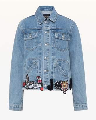 Juicy Couture Denim Jacket With All Over Patches