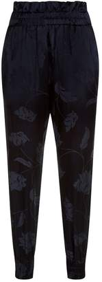 Mother of Pearl Rita Floral Satin Jacquard Trousers