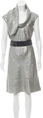 Zac Posen Silk Metallic Dress