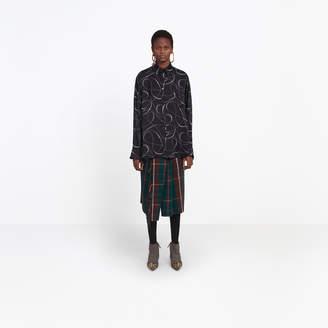 Balenciaga Silk Polkats Dots oversize boyfriend shirt