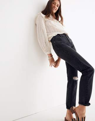 Madewell The Perfect Vintage Jean in Roxstone Wash: Knee-Rip Edition
