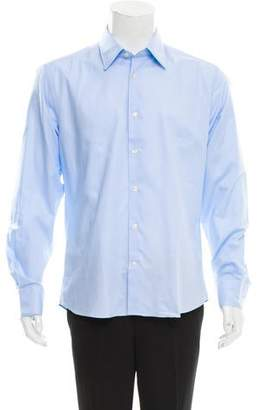 Versace Point Collar Button-Up Shirt w/ Tags