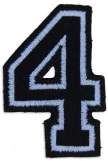 Embroidered Numeral Patch