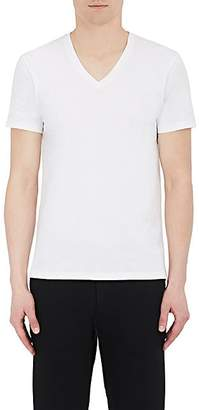 Barneys New York Men's Cotton V-Neck T-Shirt - White