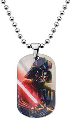 Star Wars Jewelry Unisex Darth Vader Graphic Dog Tag Kid's Pendant Necklace