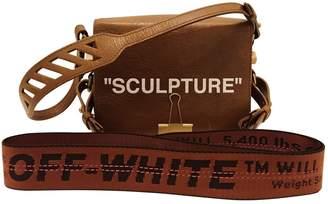 Off-White Off White Binder Brown Leather Handbag