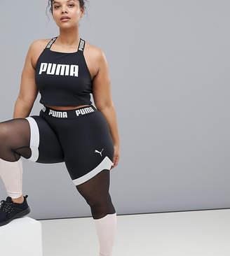 Puma Exclusive To ASOS Plus Mesh Panel Leggings