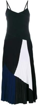 Proenza Schouler spaghetti straps tricolour dress