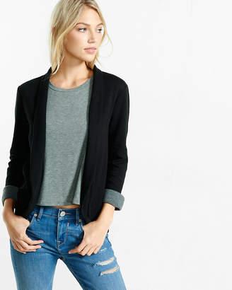 Express Petite Knit Curved Hem Jacket