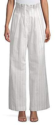 Rebecca Taylor Women's Striped Wide-Leg Pants