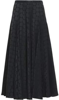 Co Satin Jacquard Midi Skirt