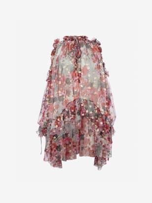 Alexander McQueen Feather Print Mini Dress
