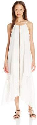 Jolt Women's Jacquard Chiffon Maxi Dress with Lace Insets