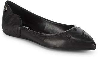 Love Moschino Women's Point Toe Leather Ballet Flats