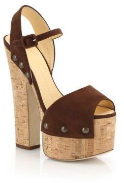 Suede Platform Sandals $975 thestylecure.com