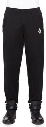 Marcelo Burlon Knit Sweatpants with Pockets, Black $450 thestylecure.com